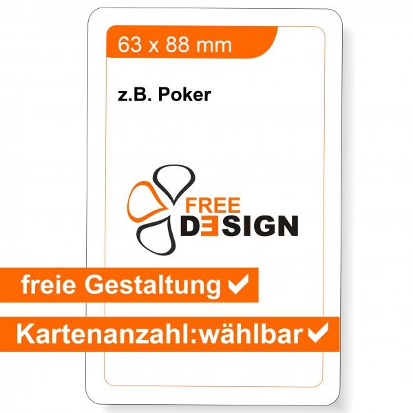 Spielkarten individuell 63 x 88 mm