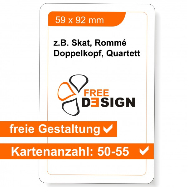 Spielkarten 59 x 92 mm (50-55 Karten)