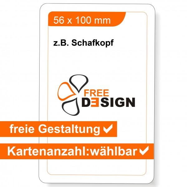 Spielkarten individuell Schafkopf-Format 56x100 mm