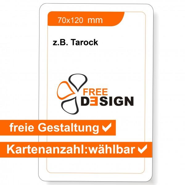 Spielkarten Tarot Format 70x120 mm