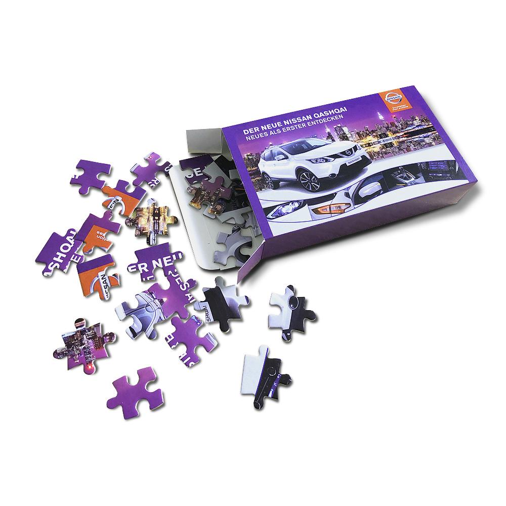 Faltschachtel für Puzzle