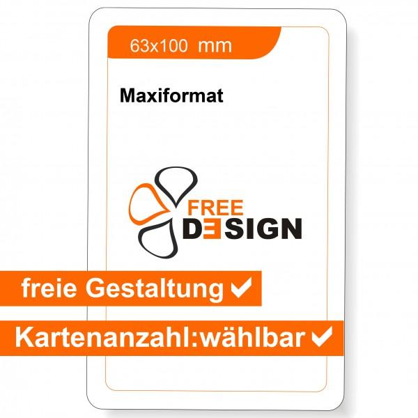 Spielkarten individuell Maxiformat 63x100 mm